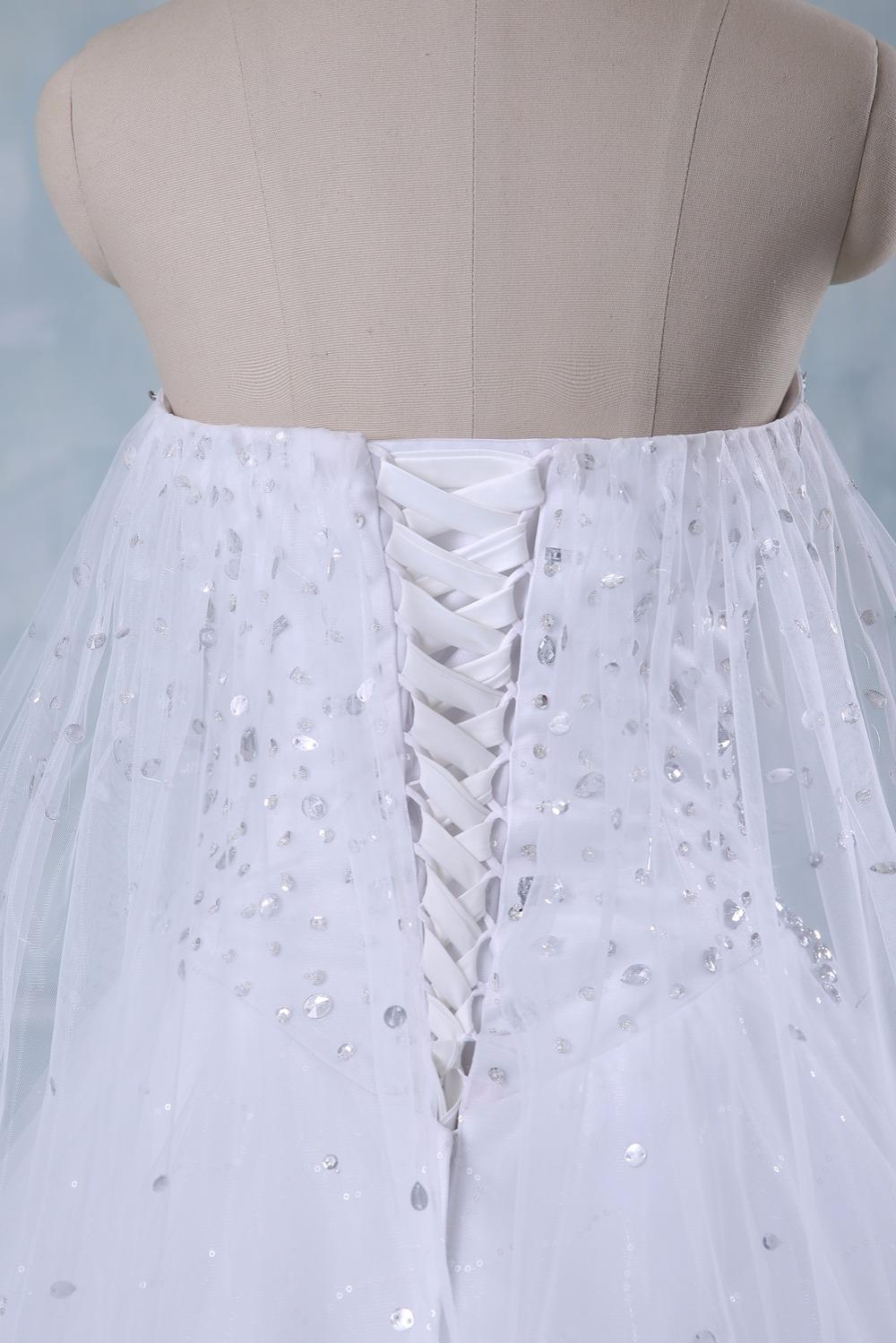 New Bandage Tube Top Crystal Luxury Wedding Dress Bridal gown wedding dresses vestido de noiva x71101 6