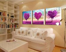3 panel canvas art purple Paintings canvas flowers Pictures decor modern Home decoration wall art office wall painting