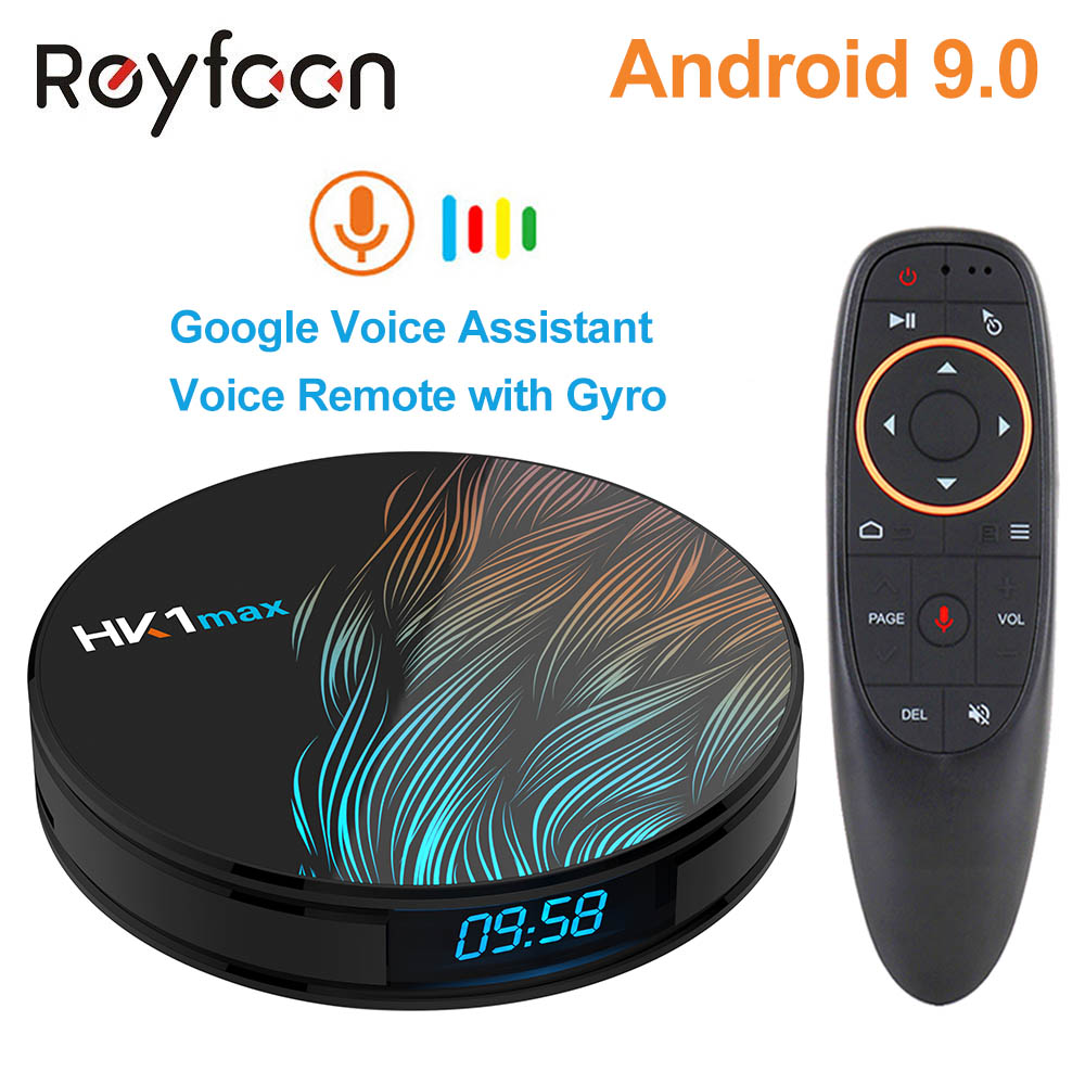 Smart Android 9.0 TV BOX 4GB 64GB HK1 MAX Rockchip RK3328 USB3.0 1080P H.265 4K 60fps 5.8G Dual Wifi Google Player Store Netflix
