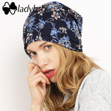 Ladybro Brand Women Lace Skullies Beanie Hat Female Spring Autumn Hat Cap Cotton Casual Flower Bonnet Femme Ladies Butterfly Hat(China)
