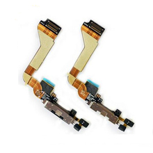 "AIBOULLY High Quality Charger Port Dock Connector With Mic Flex Cable For iPhone 4 4S 5 5S 6 6S 4.7""Flex Cable(China)"
