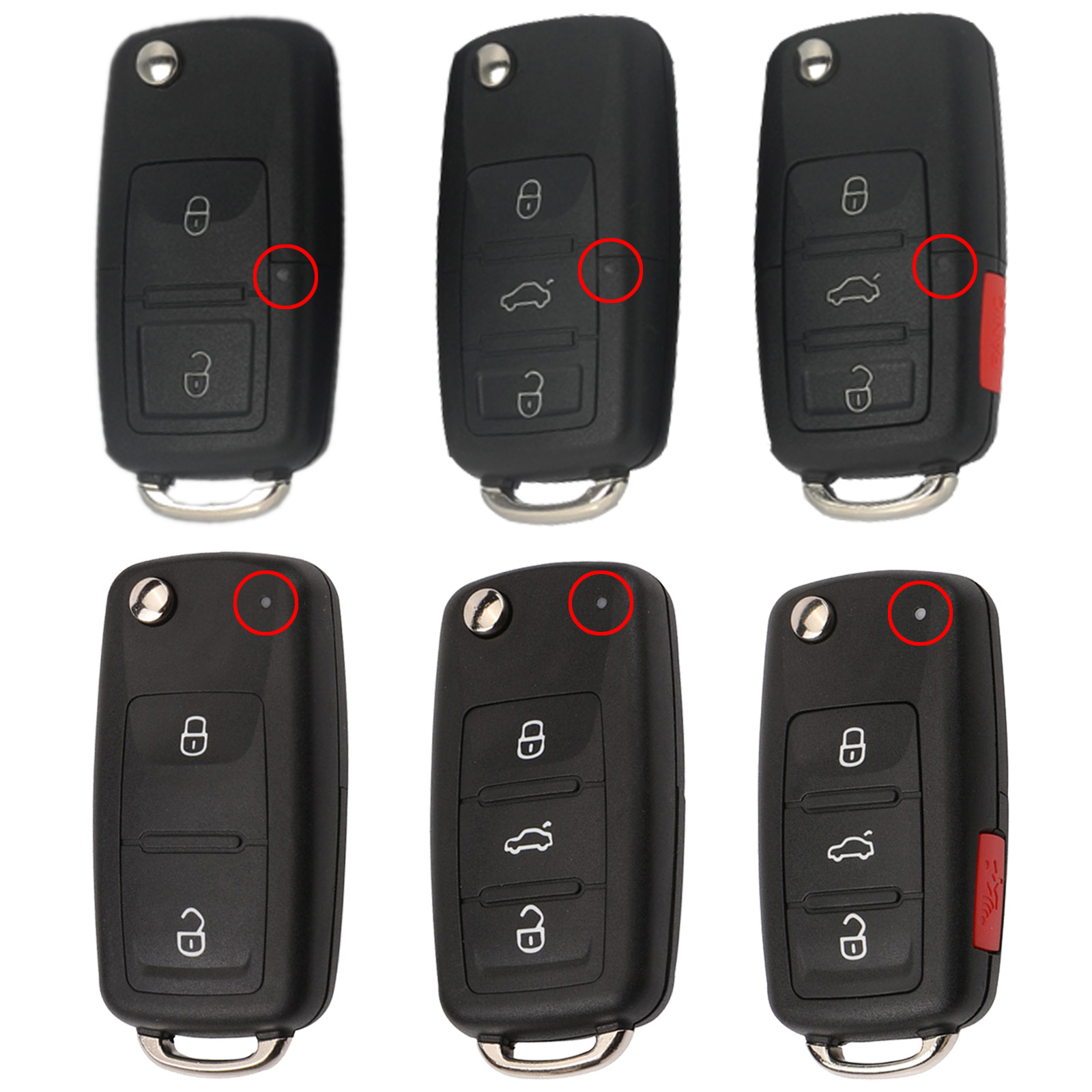 Flip Remote Car Key Shell For VW Passat B5 B6 Golf 4 5 7 Touran Bora Beetle Sagitar Skoda Octavia Fabia Leon 2/3/4B Switchblade(China)