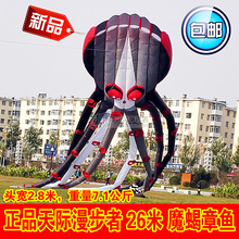 3d large kites bar weifang black octopus kite flying toy kitesurf cometas chinas windsock kiting big sport inflatable soft kite