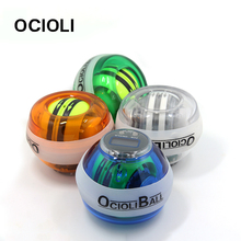 OCIOLI New Product fully automatic Gyroscope PowerBall Gyro Power Ball Wrist  LED digital Force Ball with Speed Meter Counter