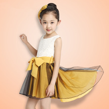 Children's Dress Han Edition Girls Summer Wear Children Dovetail Sundress High Quality Baby Girl Clothes 2016 The New