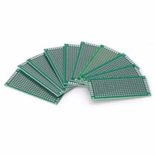 10 Pcs 3x7cm Double Side Prototype DIY PCB Tinned Glass Fiber Universal Soldering Board Double Side PCB Board(China)