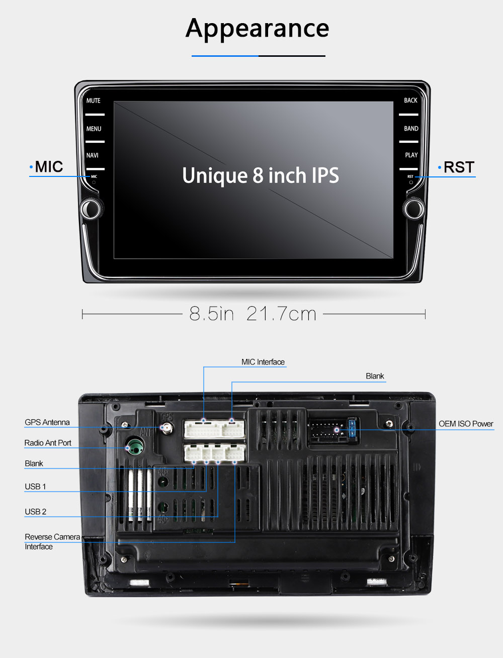 E2 2 din car dvd player gps