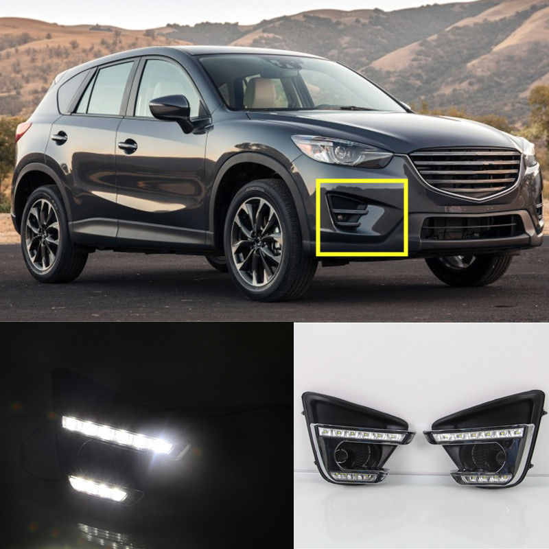 12V Relay Car Accessories High Power LED Daytime Running Light LED DRL With Yellow Turn Signal Light For Mazda CX-5 CX5 2016<br><br>Aliexpress