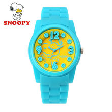 2017 Snoopy Kids Watch Children Watch Casual Fashion Cute Quartz Wristwatches Girls Boys Sports Leather clock