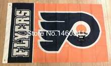 Philadelphia Flyers Wordmark Flag 3ft x 5ft Polyester NHL Banner Philadelphia Flyers Flying Size No.4 144* 96cm QingQing Flag(China)
