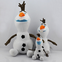 Bigest 50CM 19.7inch and 30CM and 23CM Cartoon plush Olaf Toys Snowman Toy Snow Man Doll Dolls Good Gift For Kids Free Shipping