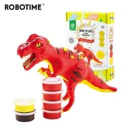 Robotime 6 видов динозавров Моделирование глины супер легкий полимерный креативный глина