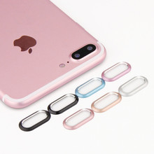 Luxury Camera Guard Circle Metal Lens Protector Case Cover Ring Bumper for Mobile iphone 7 7Plus 8 8 Plus lens Protection Ring(China)