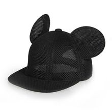 Mr.Kooky Women Lovely Mickey Big Ears Baseball Cap Girls Cute Mouse Hip Hop Caps Casual Summer Mesh Sun Hats Casquette Gifts