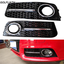 GOLFLIATH A4 B8 Sedan 4-Door ABS Auto Side Fog Light Cover Trims for Audi A4 B8 Standard 2009-2012 2pcs/set ( Non Sline )(China)
