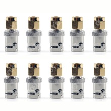 Sale 10 PCS Mini Jack Plug Adapter BNC Female Jack To SMA Male Plug RF Connector Straight M/F Wire Connector PTFE