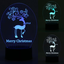 Romantic Simple Desk Light Table Lamps Night Light Deer DC 5V 3D Elk Bedroom Lighting Xmas Home Decor Great Ambience Creative(China)