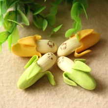 4 Pcs Banana Expression Eraser Fruits Eraser Lovely Fruit Shape Mini Eraser School Supplies Children Learning Toys(China)