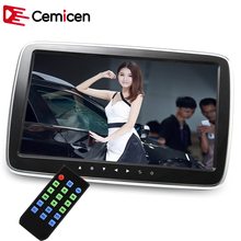 Cemicen 10 Inch Car Headrest Monitor HD LCD Screen Digital MP5 Player Touch Button Remote With Control USB/SD/FM/Speaker(China)