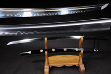 Handmade Japanese 1095 T10 Steel Hand Forged Clay Tempered Samurai Katana Sword Live Blade