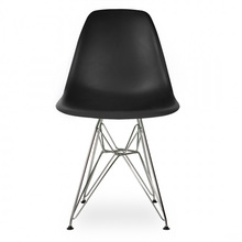 6 pieces for a  lot  PP Modern Creative Dining Chairs Seat Steel Legs Color Black