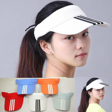 Hot! New Arrival 7 Colors Adjustable Unisex Women Men Summer Outdoor Sun Visor Hat Sport Golf Baseball Tennis Hat Cap Gift