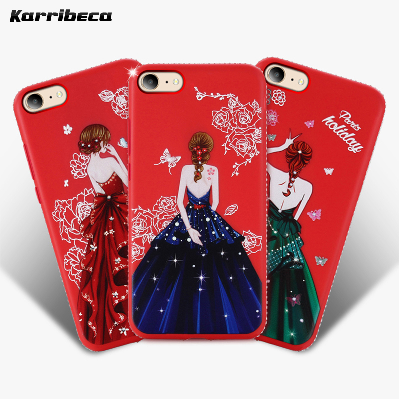 dress girl silicone case iphone 6 s 7 8 plus (8)