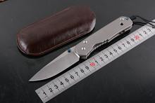 Chris Reeve standard Large Sebenza 24 folding knife D2 blade TC4 handle camping hunting kitchen fruit outdoor survive knife(China)