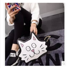 2017Vintage signs printed envelope bag purse handbag clutch evening bag lady wallet woman cat bag