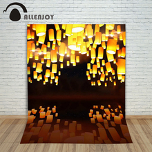6.5ftx10ft AllenjoyHome Photo Background lights fly lanterns night wedding Photography backdrops Studio For baby Interior Photos(China)