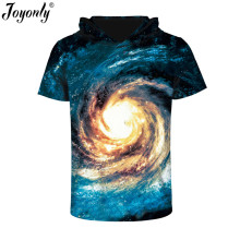 Joyonly Summer 2017 3D Universe Center Pattern Design Printed Men's T Shirt Cool Funny Tee Tops Novelty Clothing Hooded T-shirt(China)