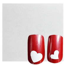 1 Sheet  Cute Heart Line Shape French Nail Art Tips Guide Pack Sticker New Fashion Design 3d Emboss Manicure Set Tool FJ21