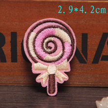 Lollipop Candy Embroidery Sew Iron On Patches Motif Applique Badges DIY Clothes Jeans Hats Patch Stickers Christmas Gift(China)