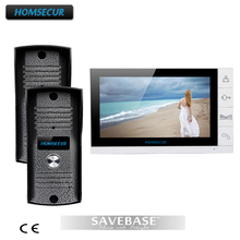 "HOMSECUR 9"" Video Door Phone Intercom Doorbell Security 2 Cameras 1 Monitor Night Vision(China)"