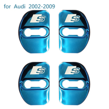 Dewtreetali new Stainless Steel car door lock cover for audi Sline 2002-2017 a6 a4 b6 a4 b8 b7 b5 c6 80 A3 a5 q5 car styling(China)
