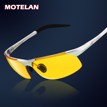 Hot Sale men's aluminum-magnesium car drivers night vision goggles anti-glare polarizer sunglasses Polarized Driving Glasses(China)