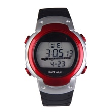 New Solar Power Digital Watches Sport Unisex Watch Mens with Calendar EL Backlight Stopwatch Red Waterproof sports watches