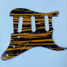 4 pcs New 3-Ply Yellow Sallow Pickguard for Fender ST Strat Guitar Replacement(China)