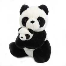 "Plush Hi-Q Emulational Mother Panda with Baby Doll Kids Stuffed Animals Toys Best Gifts for Children Christmas Birthday 12*9""(China)"