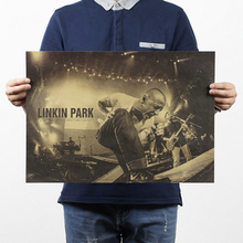 Free shipping,Nostalgic Rock Band Linkin Park b style/kraft paper/Cafe/bar poster/ Retro Poster/decorative painting 51x35.5cm