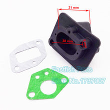 40-5 Intake Inlet Manifold With Gaskets For 33cc 43cc 49cc Goped Scooter Cat Eye Pocket Bike Brand Quality