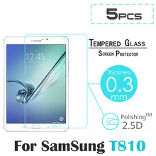 "5pcs Explosion-Proof Toughened Tempered Glass For Samsung Galaxy Tab S2 9.7"" T810 T815 Tablet PC Film Clear Screen Protect Cover(China)"