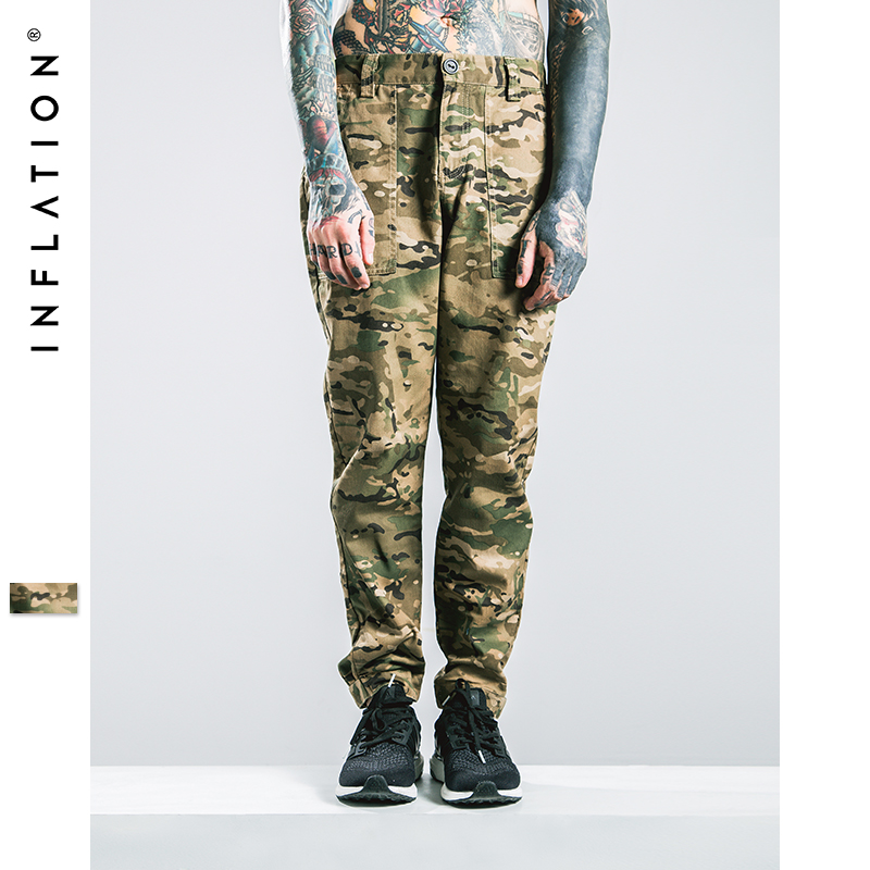 INFLATION Men Camouflage Pants Fashion Stretch Skinny Jeans Feet Pants Male Casual Jeans Men Slim CutОдежда и ак�е��уары<br><br><br>Aliexpress