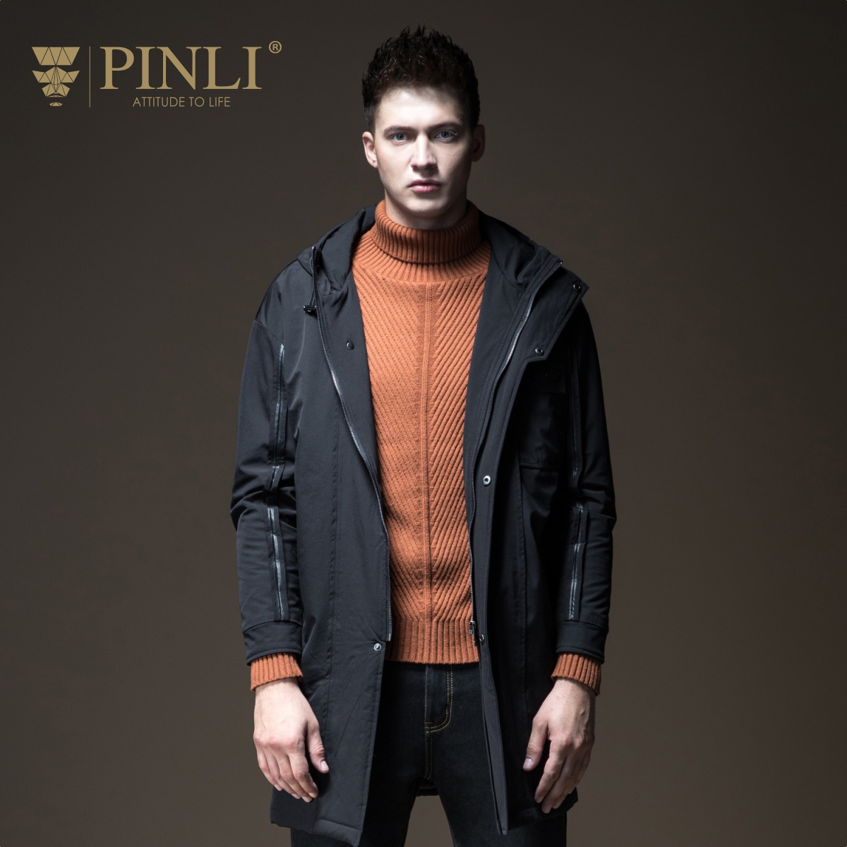 Mens Winter Jackets Winter Jacket Men Hot Sale Chaquetas Hombre Pinli Pin Li New Men's Suit, Long Hat, Coat, Chao B184105582