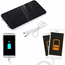12000mah Dual USB Portable Solar Power Bank Phone Stand Holder Backup Battery Charger for All Cell Phone