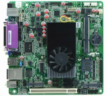 Atom D525 DDR3 RAM 1.8GHZ Intel mini itx D525 motherboard dual core motherboard support 3G/WiFI(China)