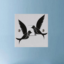 Two Birds Light Switch Cover Decal Vinyl Funny Wall Sticker 3SS0067