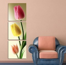 3 Piece Free Shipping Hot Sell Modern Wall Painting Home Decorative Art Picture Paint on Canvas Prints It is fascinating tulips