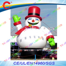 free air shipping to door,6m/8m/10m 2017 new design christmas holiday decoration Giant inflatable snowman cartoon for sale(China)