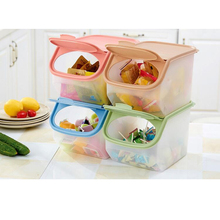 Large Capacity Kitchen Rice Storage Organizer Grain Storage Container Box Cereal Bean Container Sealed Box with Measuring Cup